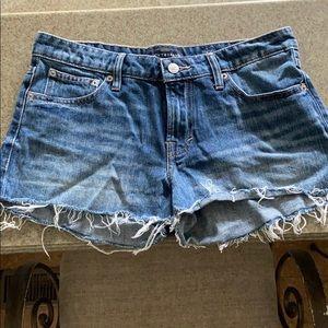 Lucky Brand cut off denim jean shorts, size 4 /27W